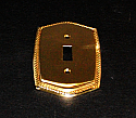 Beaded Brass Single Toggle Switchplate