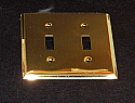 Brass Double Toggle Switchplate
