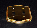 Beaded Brass Double Toggle Switchplate